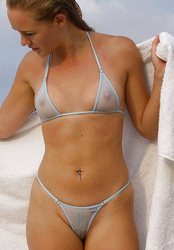 Amateur model showing off her wicked weasel micro bikini in private shoot