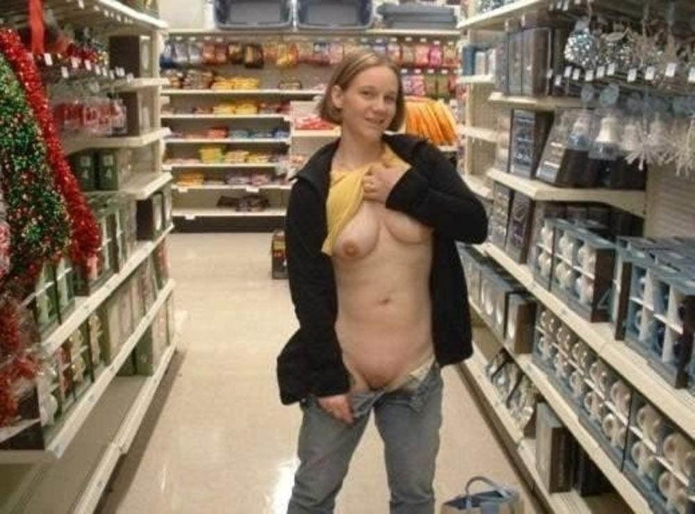 Girls flashing boobs at walmart nude 3
