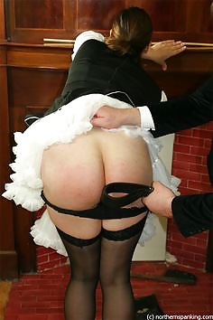 French maid spanked