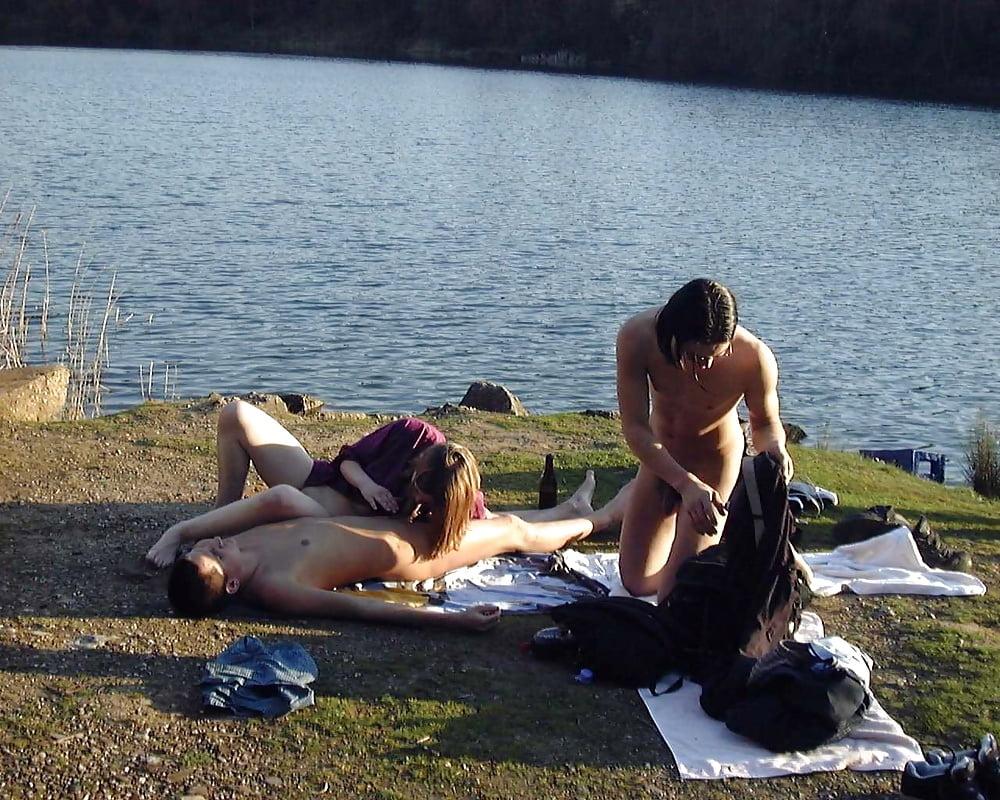 Студенты русские на озере — img 13