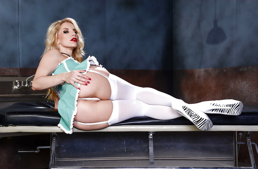 Nurse Ashley Fires In White Stockings And Heels Getting Fuck Spankbank 1