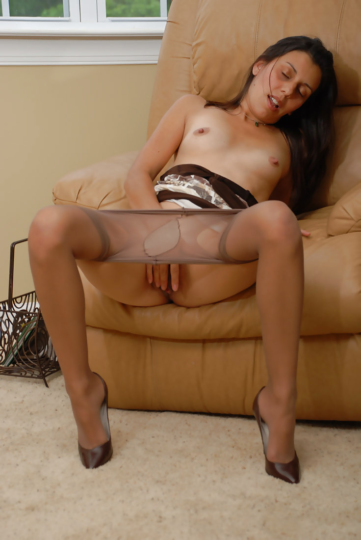 Marias nylon fantasies black pantyhose