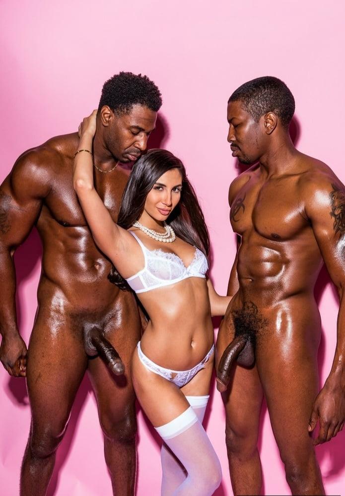 3 Black Girls Fuck White Guy