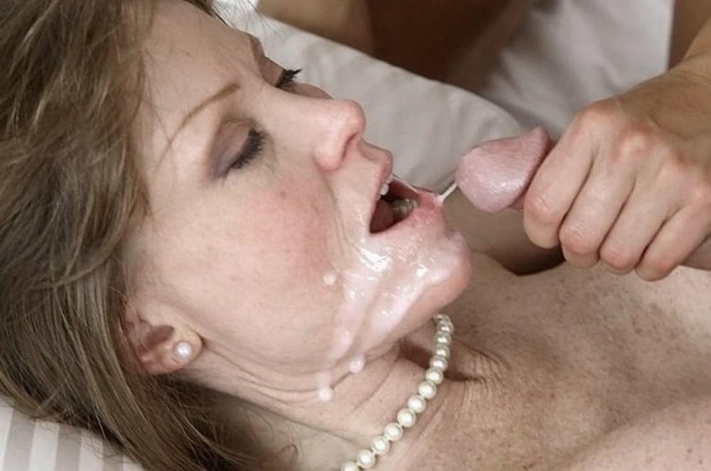 порно сперма в рот мамочке - 9