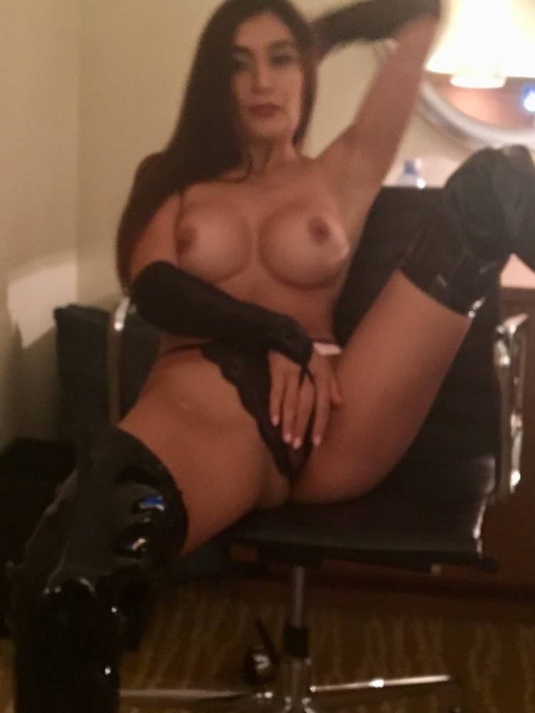 Naked women in thigh high boots