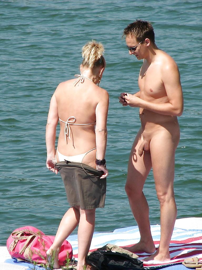 nude-pornstars-boner-naked-beach
