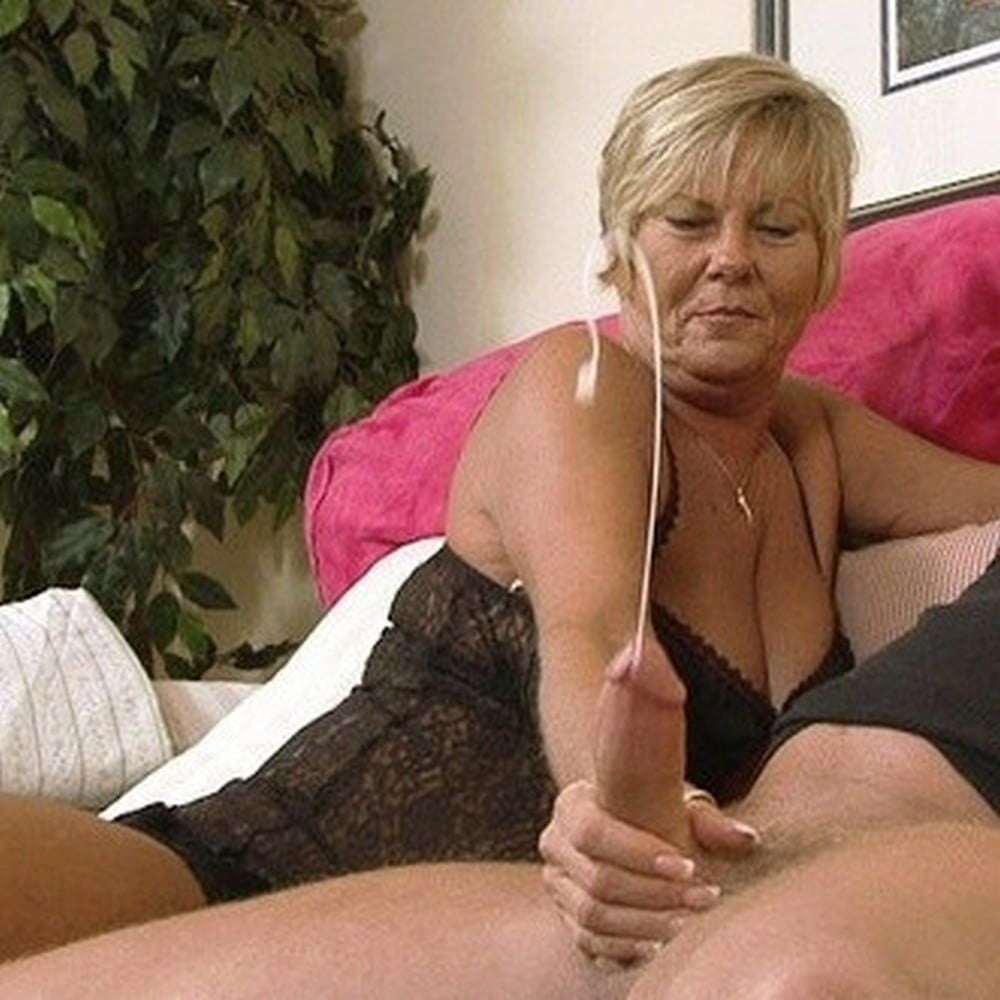 Older ladies stroking penis