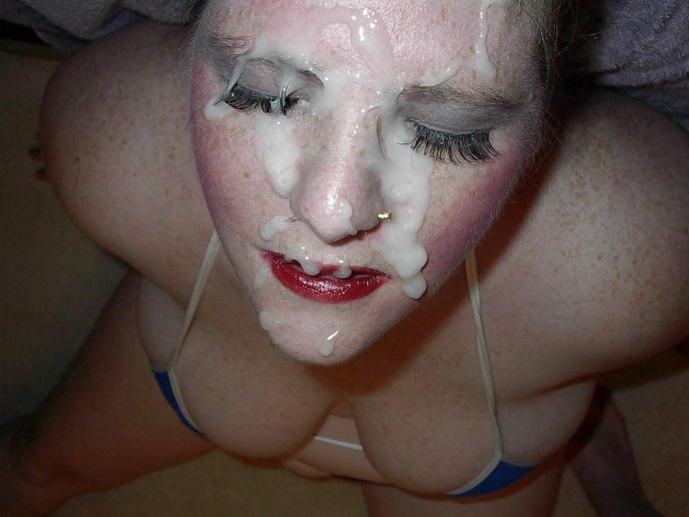 Жены в сперме на фото