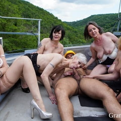 Mature Rooftop Orgy At GrandMams