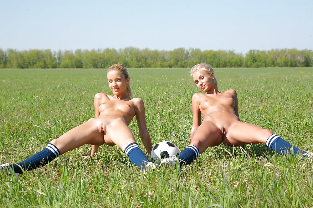 Girl playing football naked video 13