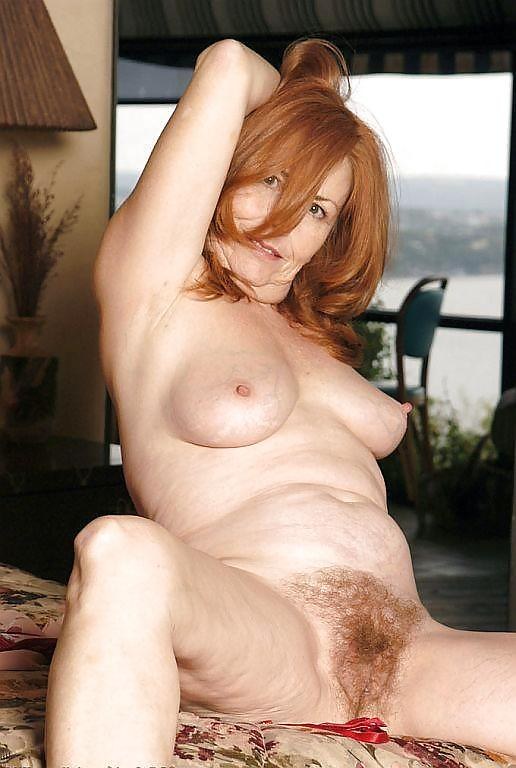 Red haired old lady pussy — 8