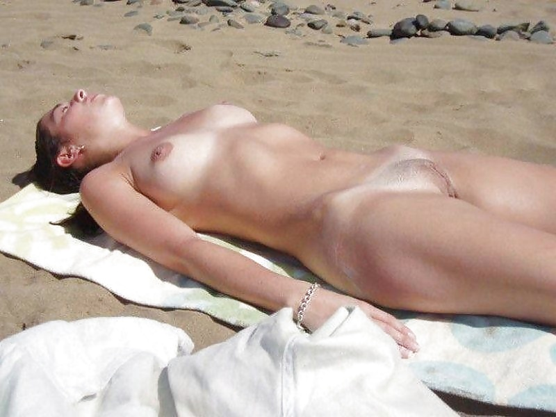 Naked girls on the beach sleeping, girls pose naked in a car