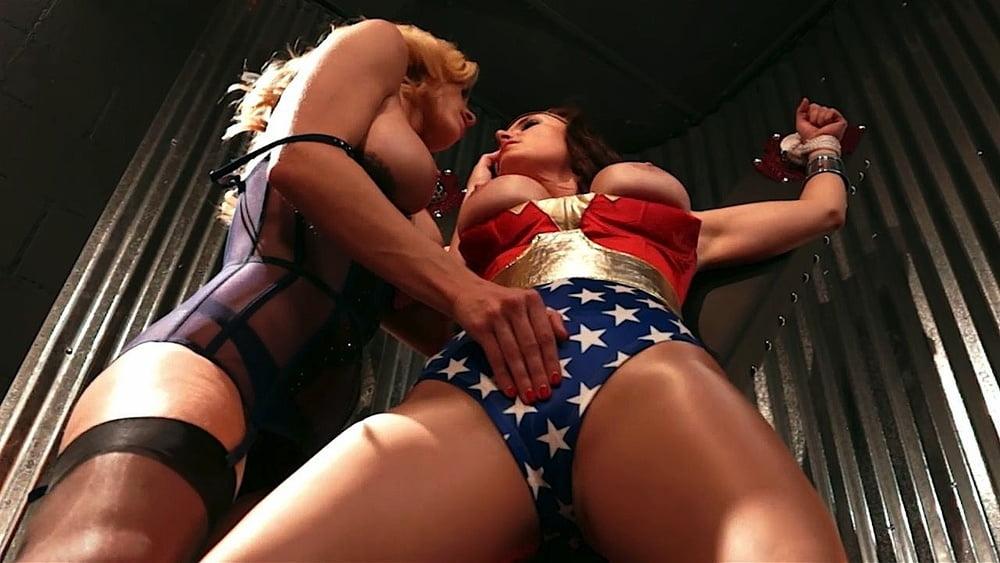 Erotic superheroines nude, he rubs his dick in broken glass