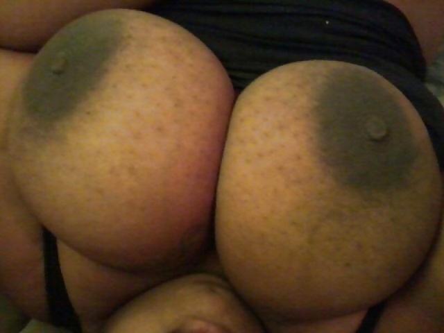 Big black amateur tits