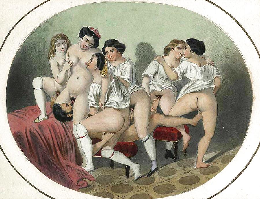 старинные эротические порно полотна - 7