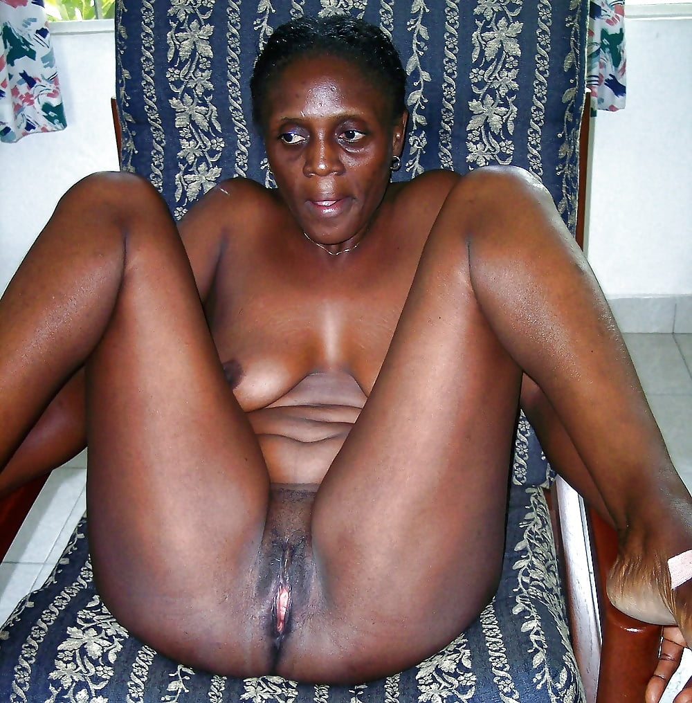 Black Old Women Nude Chubby Short