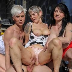 Three Grannies Craving For Cum At GrandMams