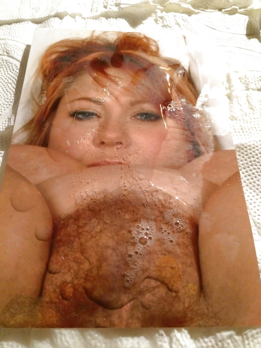 Samantha 38G Face And Hairy Pussy Cum Tribute - 6 Pics -7411