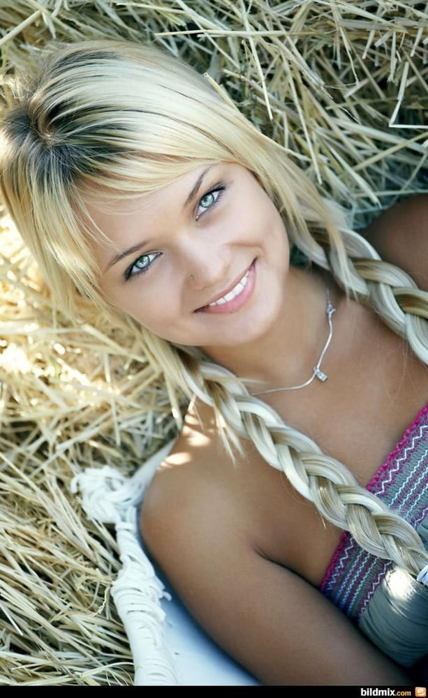 Little girl braids to the side with beads-9763