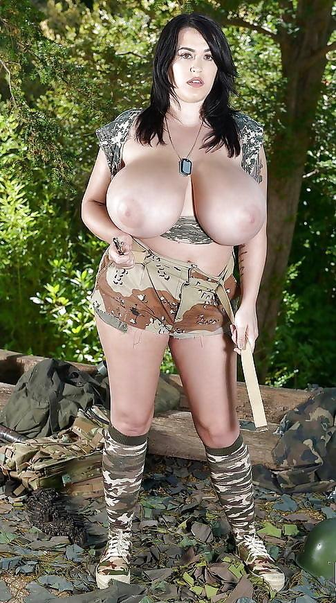 Army woman big tits
