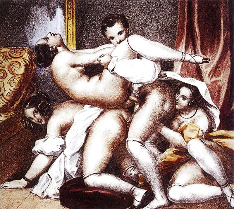 Порно картины и старинные фото