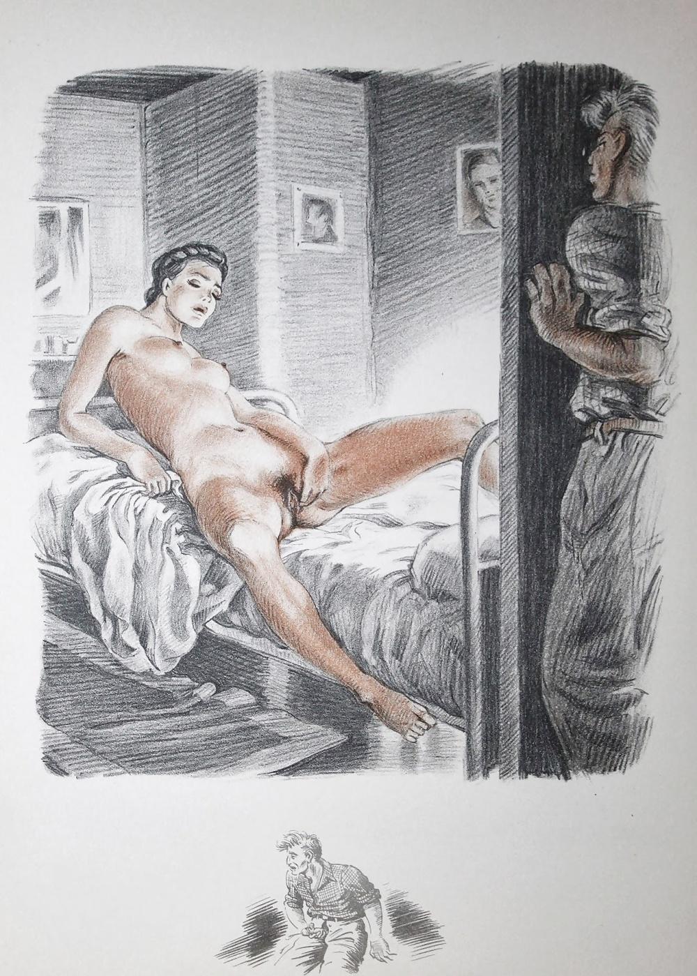 винтажная эротика рисунки