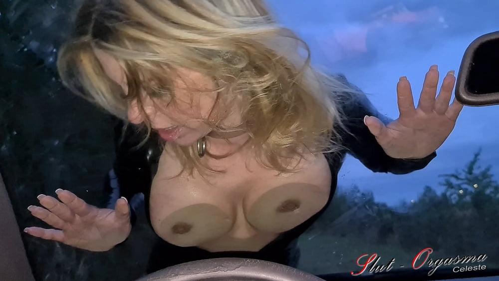 Slave Slut-Orgasma Celeste a dirty mess onthe carwindow - 11 Pics