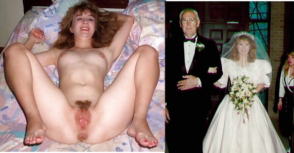 Real amateur brides dressed and undressed