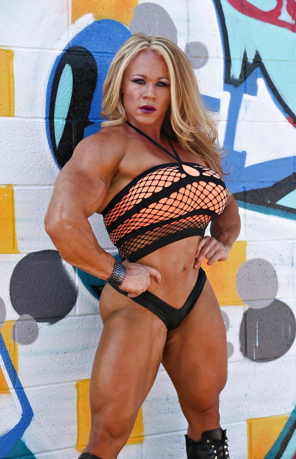 Nude aleesha young Female Bodybuilder