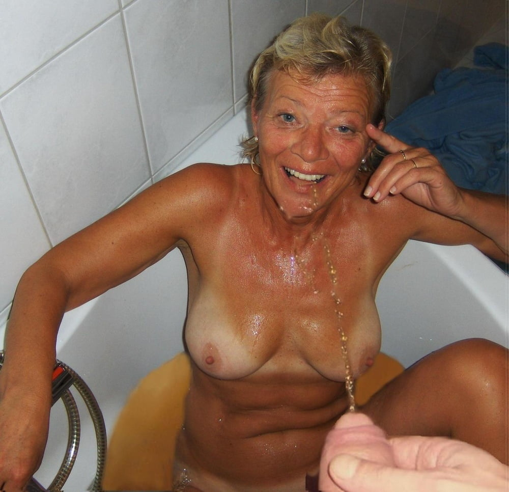 Five Guys Pissing On Hot Granny Hot Photo