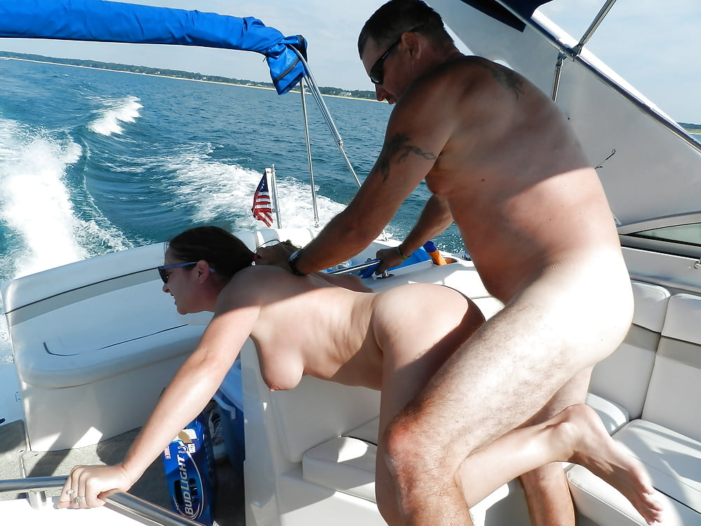 Fucking wife on my boat, nude natural mature woman