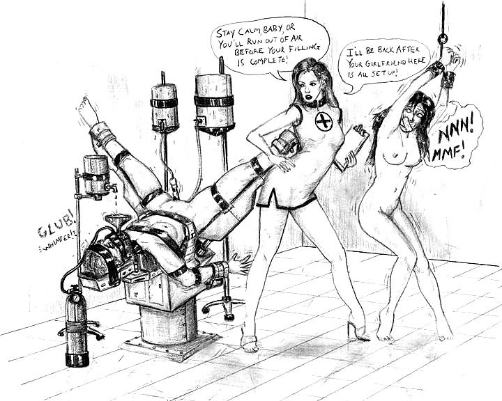 Augustine femdom drawings