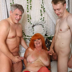Dressed Up Mature Discovered By Two Horny Men At Once