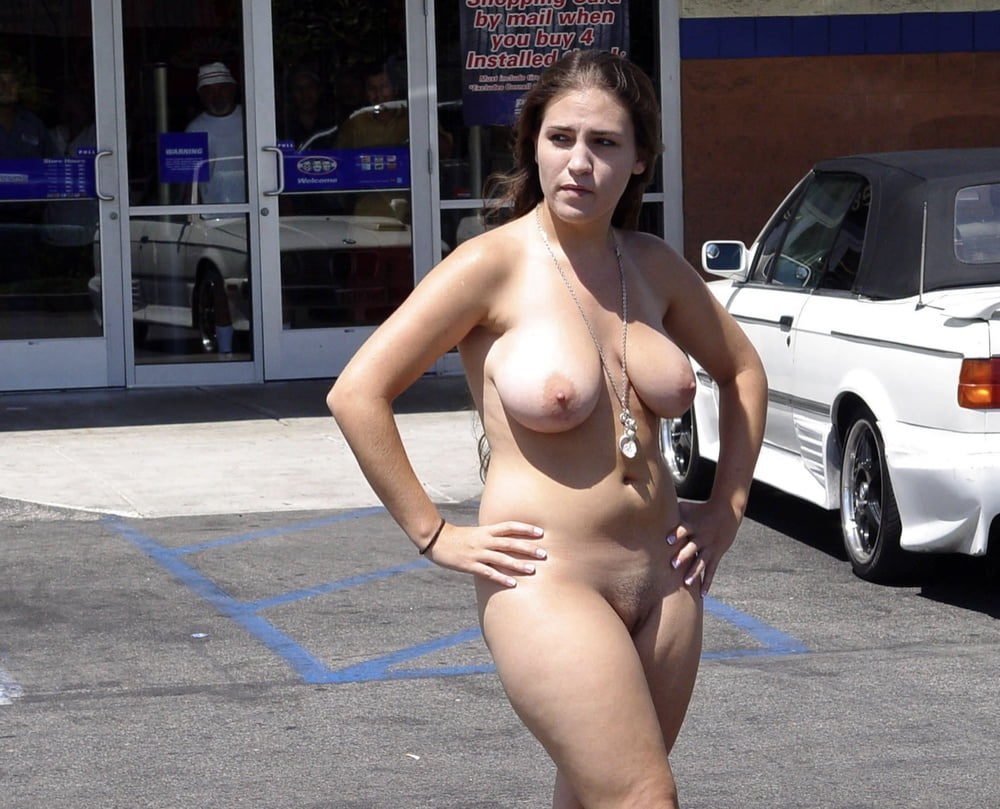 Mature ladies naked in public