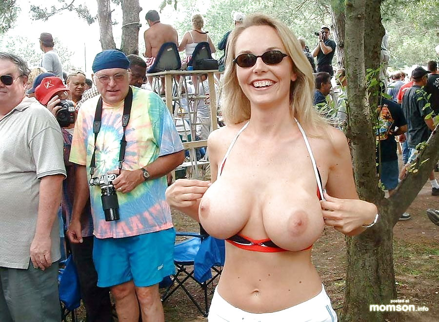Women with big boobs having sex in public — photo 12