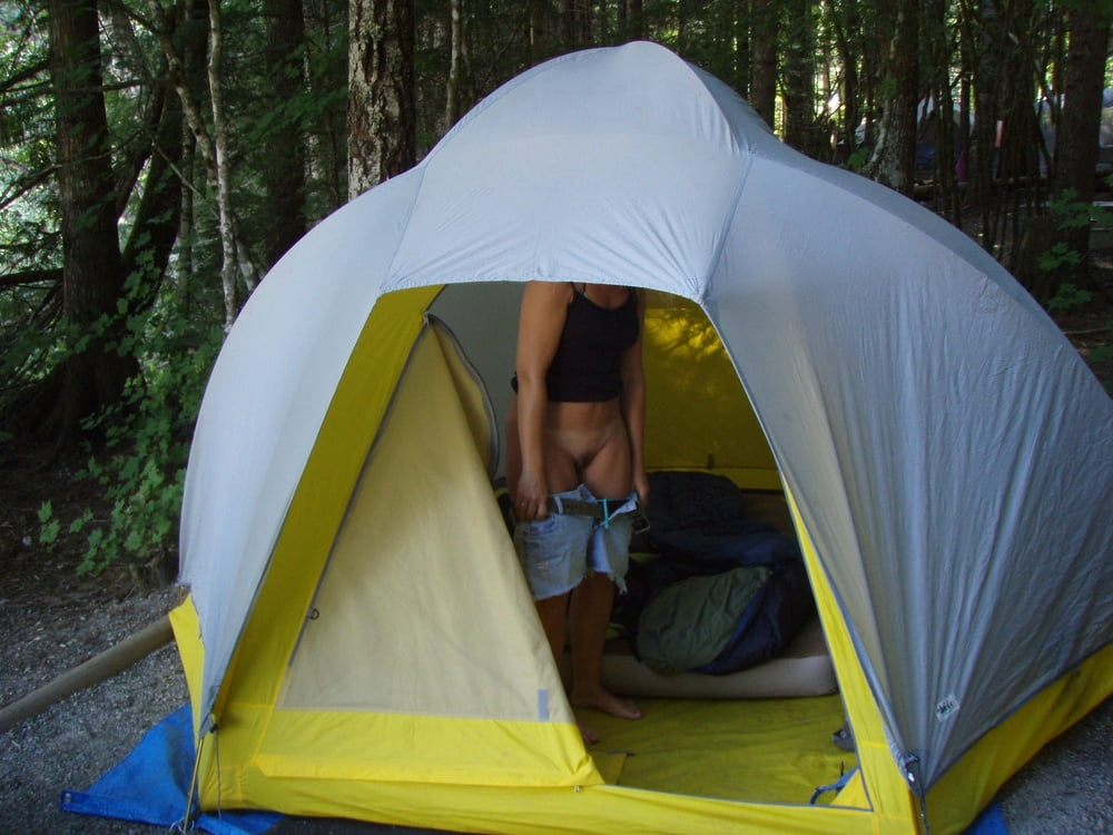 Sexy tent camping