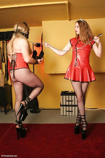 Femdom slave and master