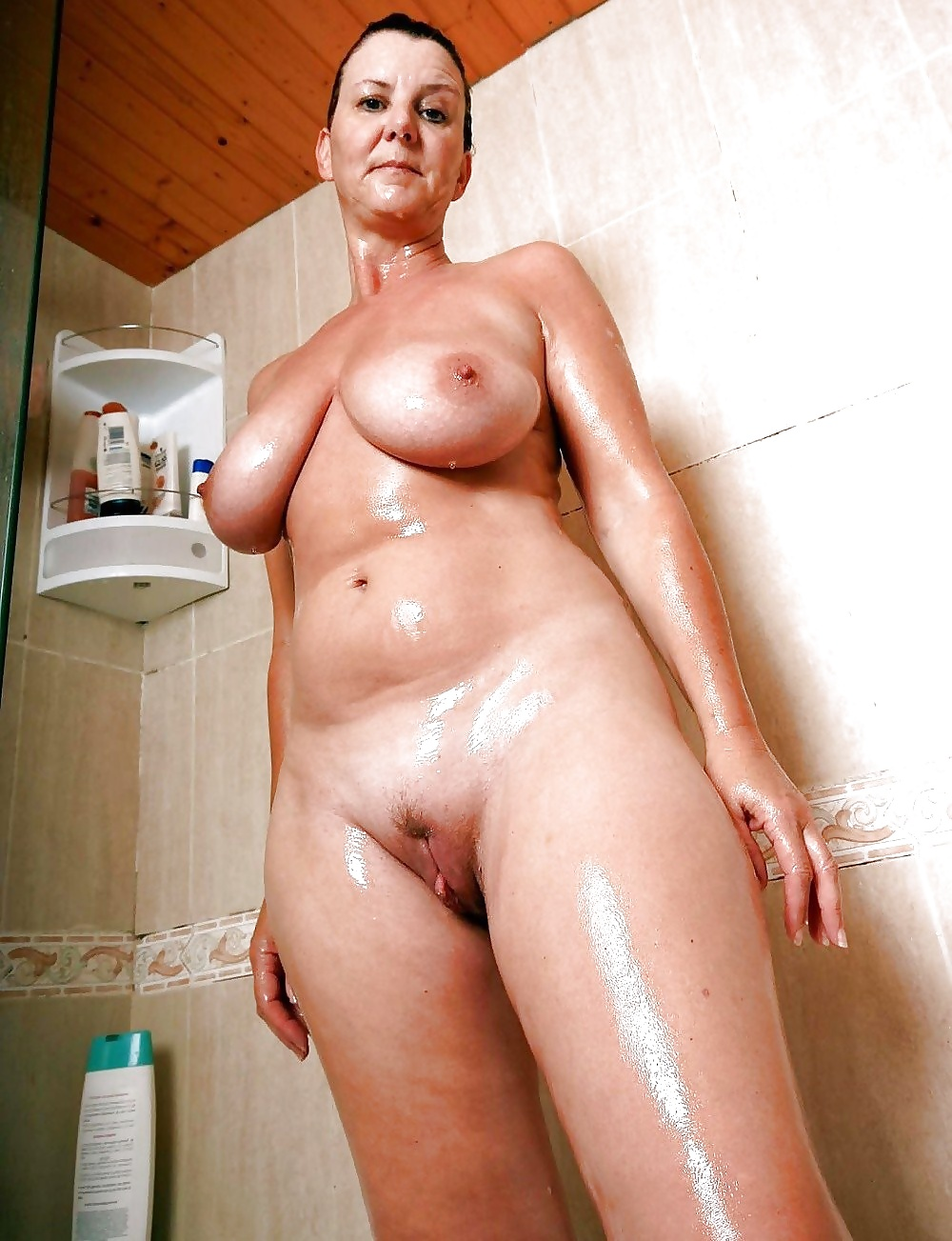 White naked sexy girls in shower