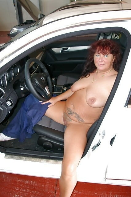Young fatty gets naked for a lucky truck driver