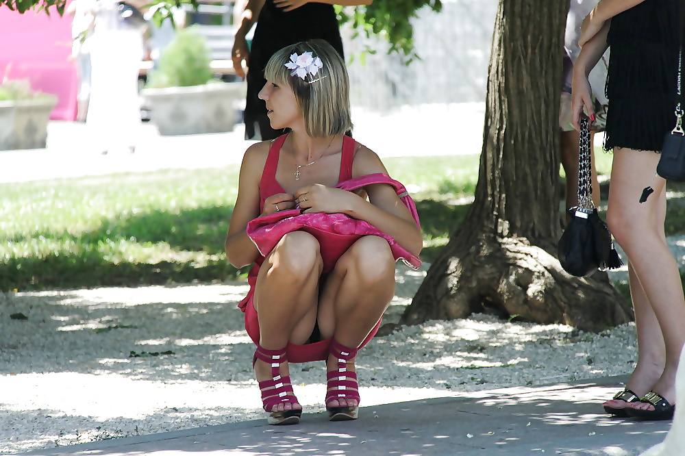 Laurent sexy candid on the street upskirt xxx