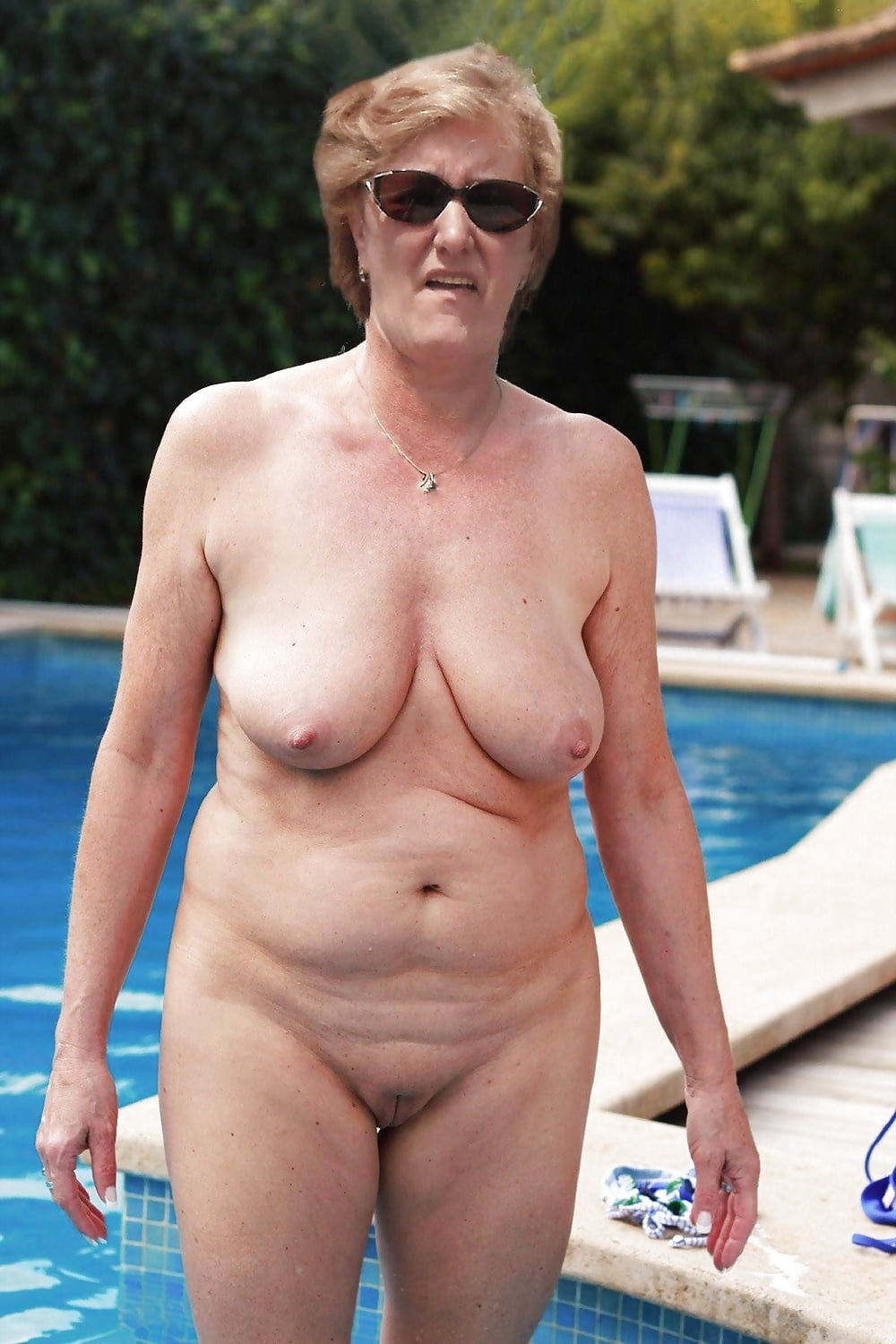 tilly-nipslip-older-lady-nude-by-pool-old