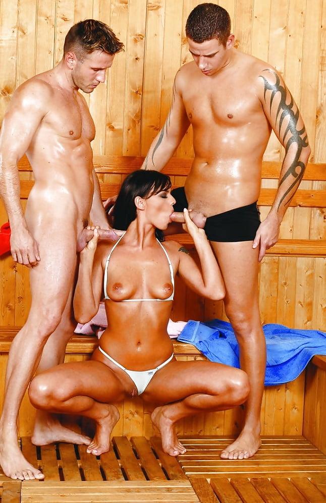 Bisexual sauna thumbs #2
