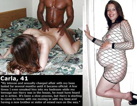 Interracial pregnant white woman