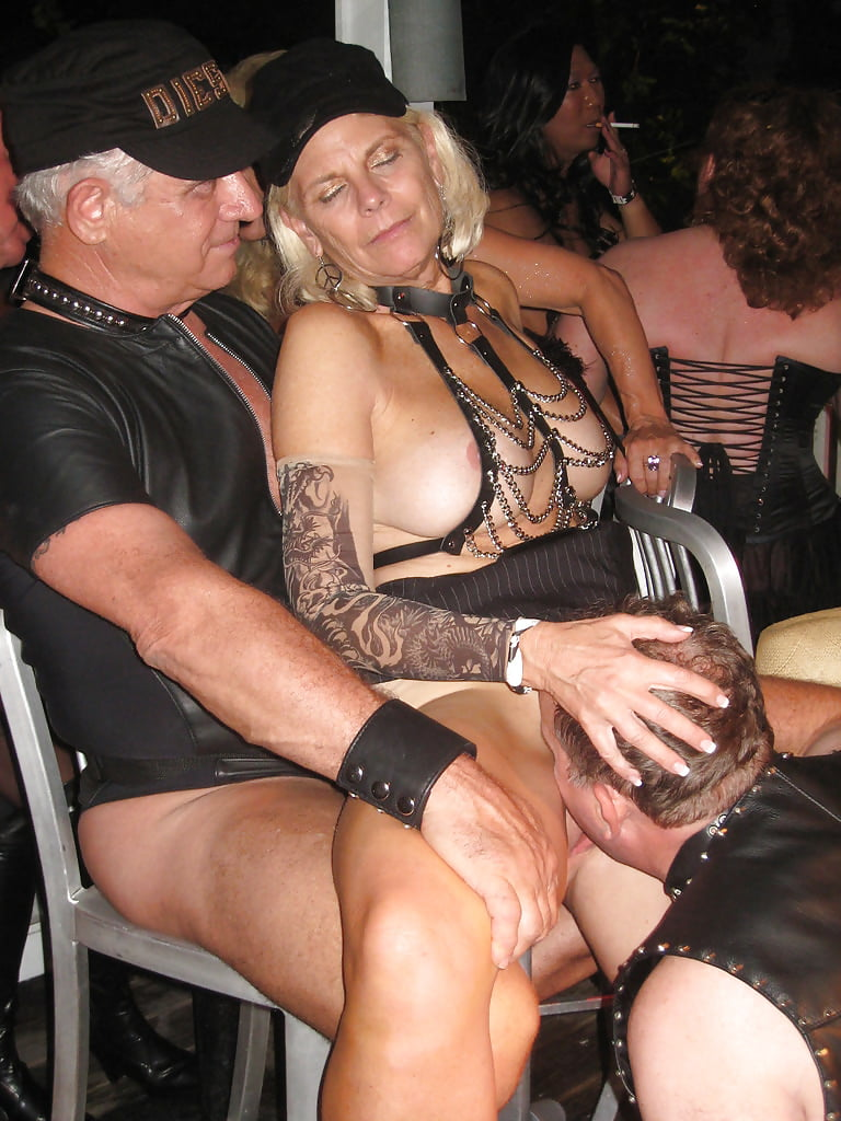 Hot grandma naked at party