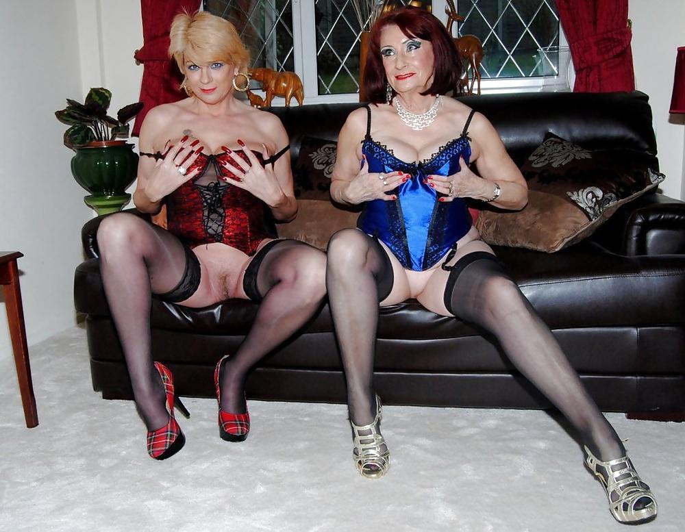 Two mature women teasing