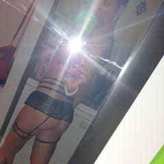 Pinup Babe Has No Panties In Front Of Mirror Retro Vintage N