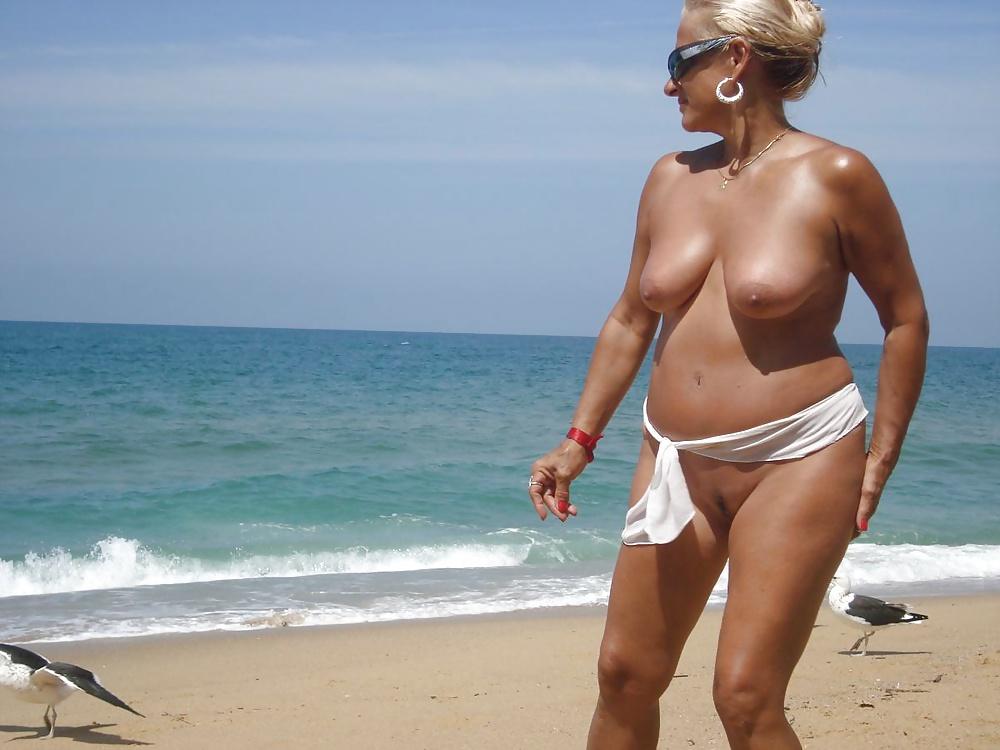 Matures going topless