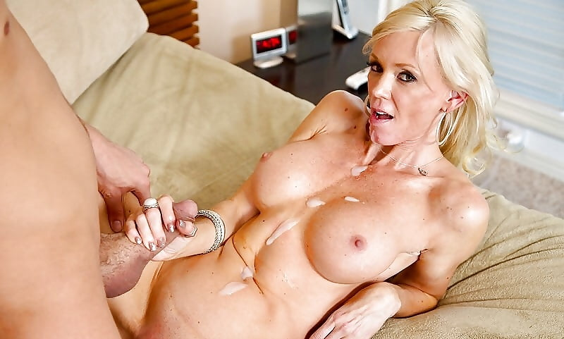 This Super Sexy Blonde Milf Is Getting Titty Fuckd Like Crazy In These Hot Pics