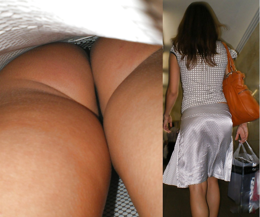 Upskirt pics with amateur asses exposed