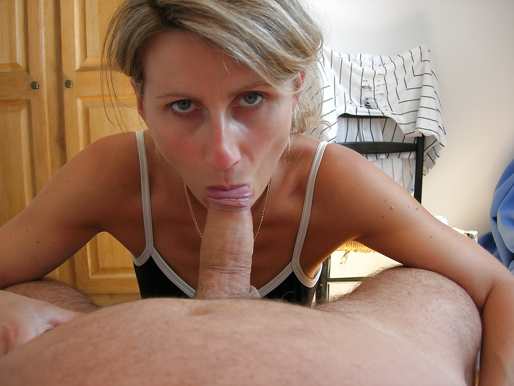 Amature blonde milf sucks cum 7